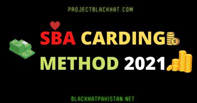 SBA Carding method 2021